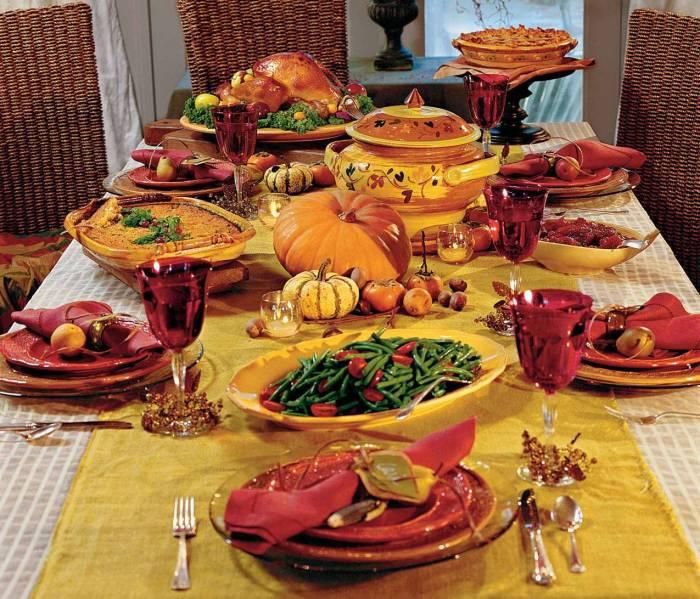 jantar no Dia de Ação de Graças (thanksgiving)