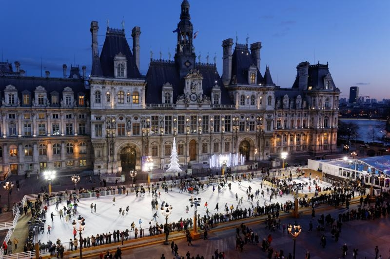 Sapin De Noel Hotel De Ville Paris