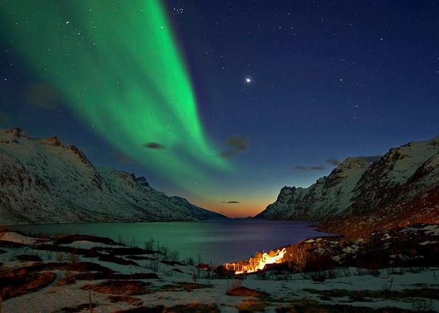 viajar para a Noruega aurora boreal