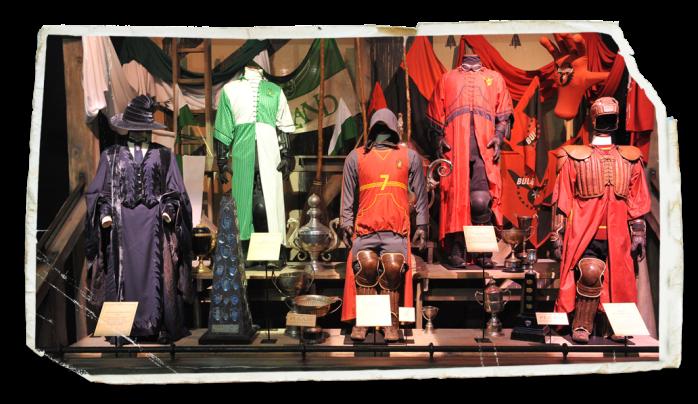 Exposição Harry Potter em Paris uniformes de quadribol