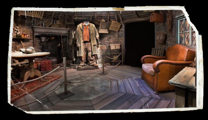 Exposição Harry Potter em Paris casa do Hagrid