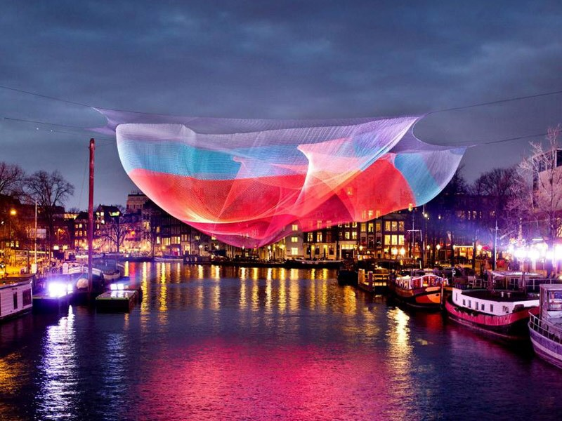 Amsterdam Light Festival water