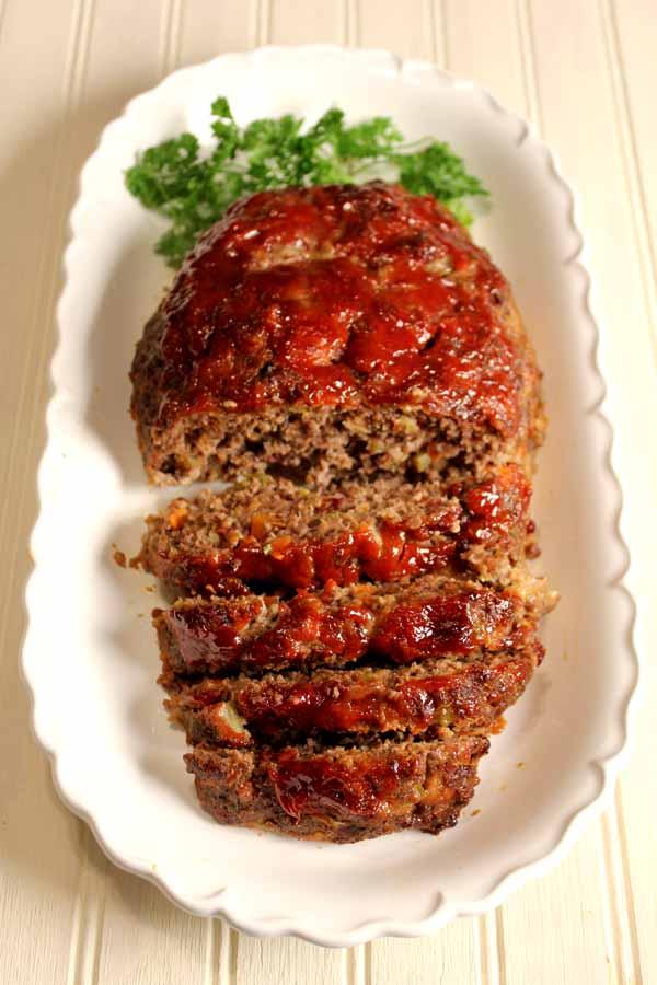 Receita de meatloaf, bolo de carne americano