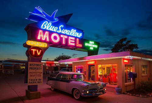 motel roadtrips nos Estados Unidos